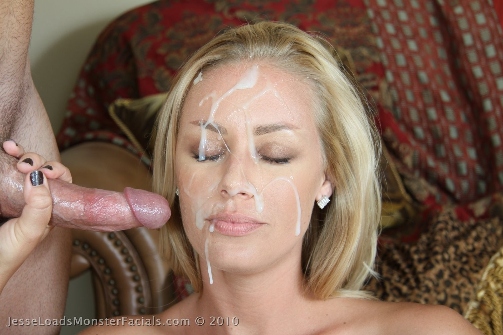 face Cum on her young