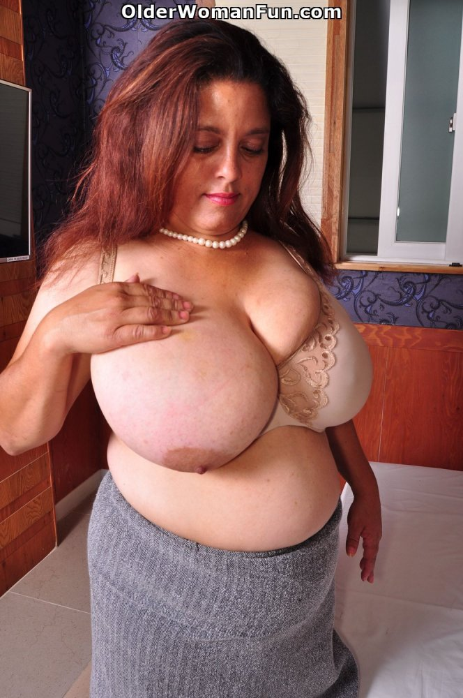 43 year old with huge new tits