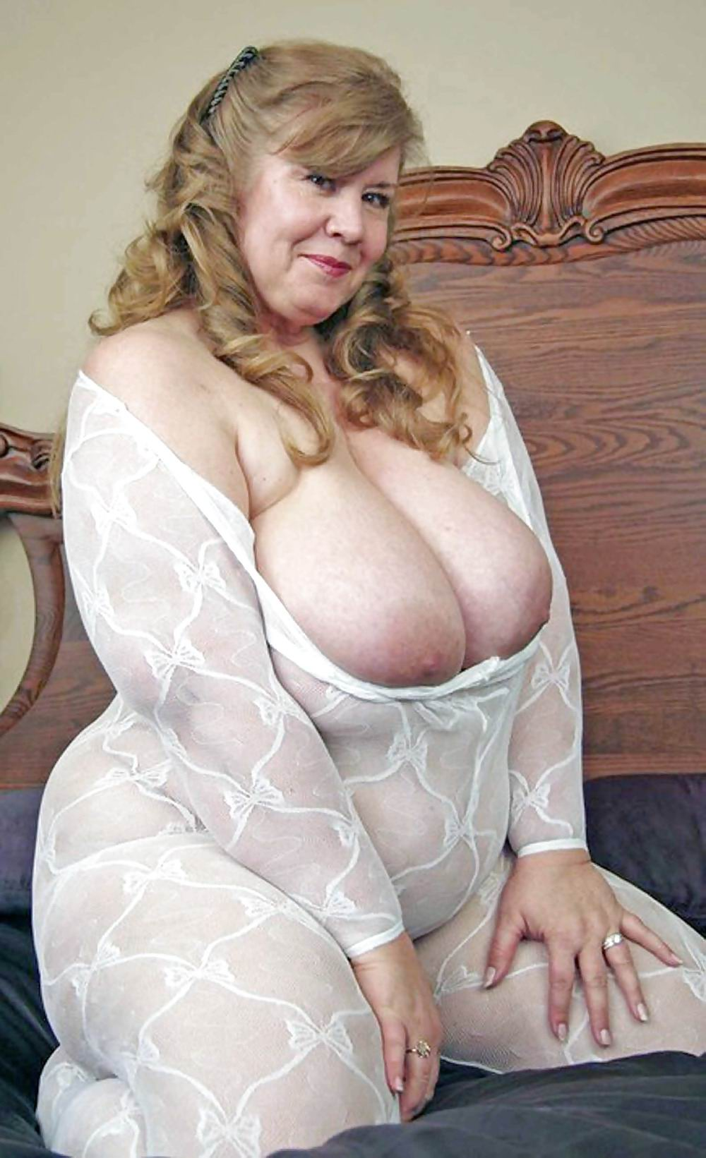 breasted in girdle grannies Large