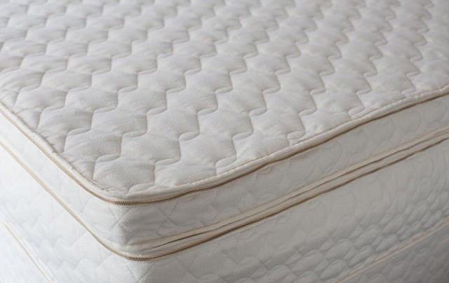 Natural latex mattress quilted wool topper queen size
