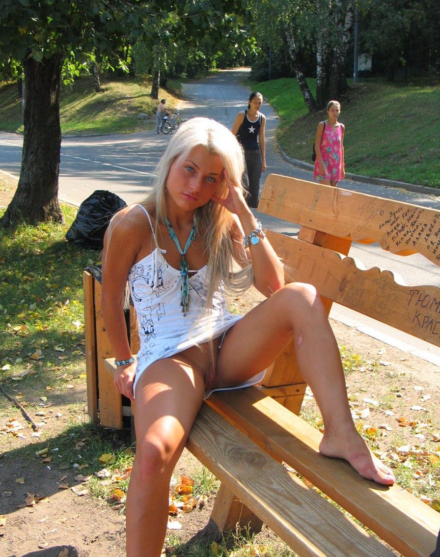 in dildo Naked public