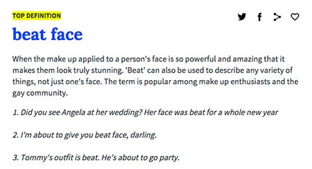facial Urban dictionary