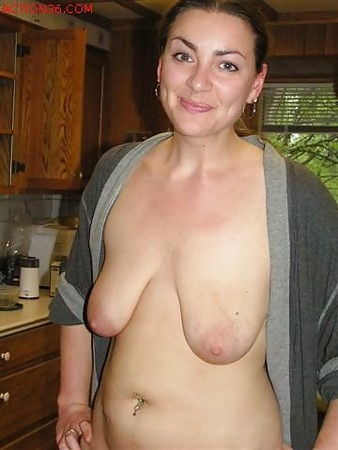Young women with saggy boobs