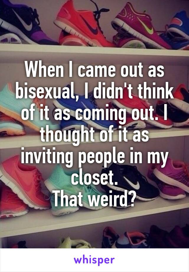coming out gay Bisexual as