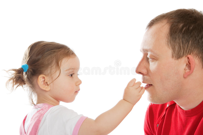 daughter small photos lick Father free