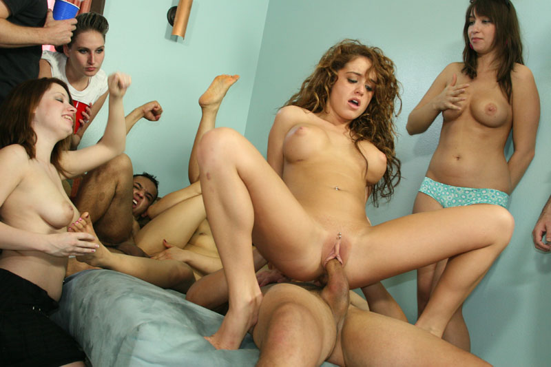 Free coed orgy sex video