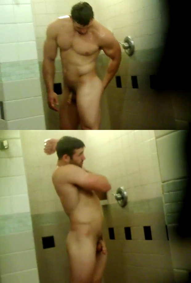 gym shower in the Naked