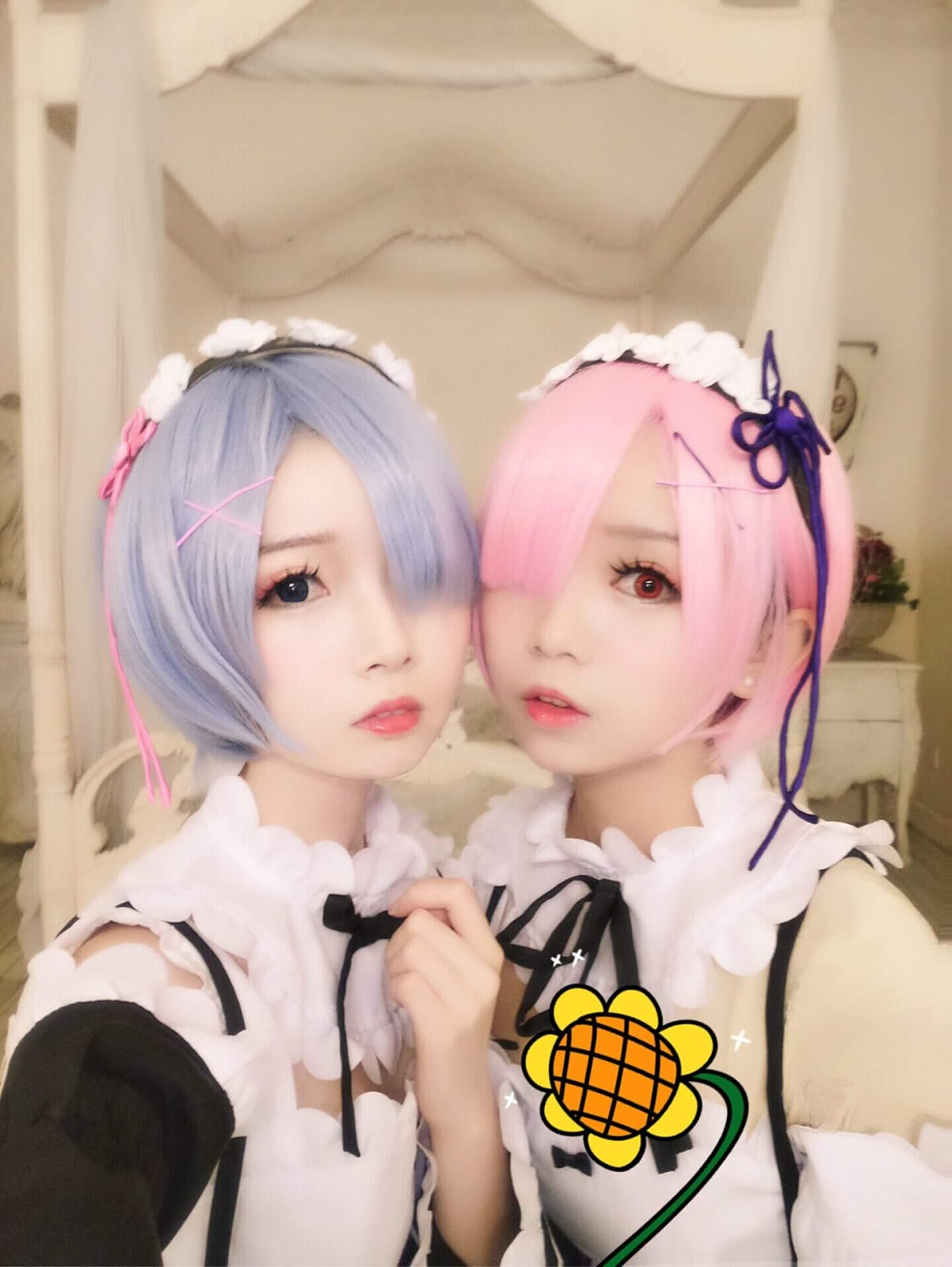 ram cosplay and Rem