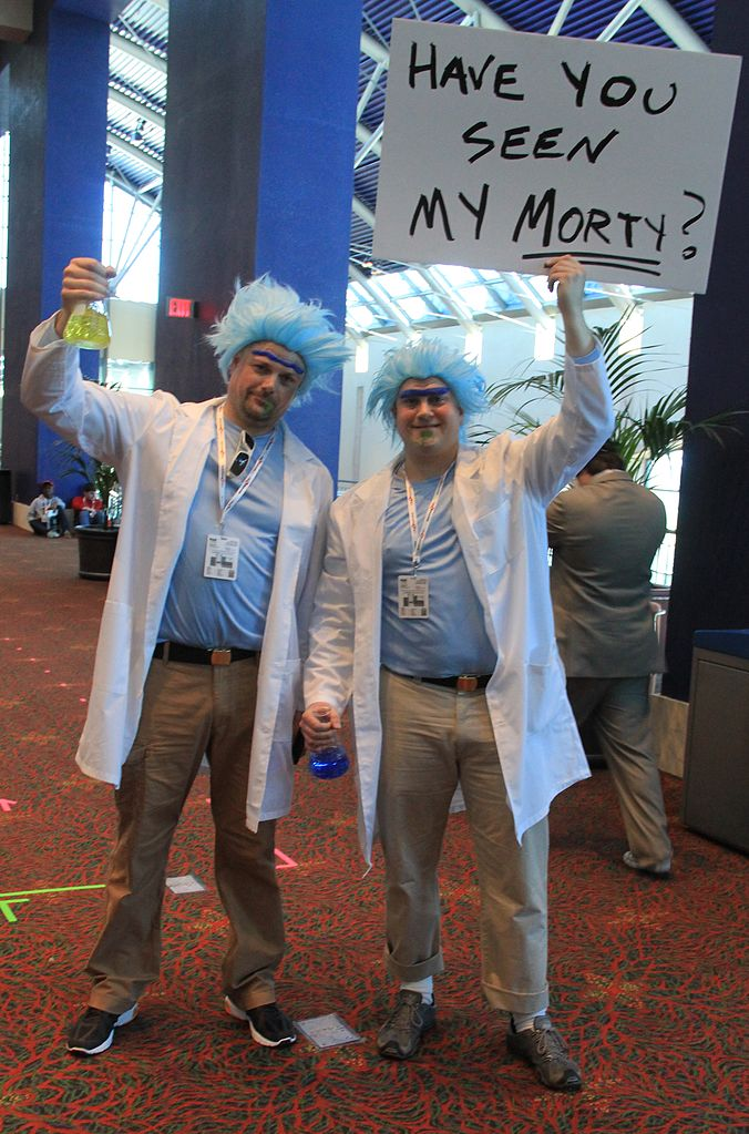 morty snowball and cosplay Rick
